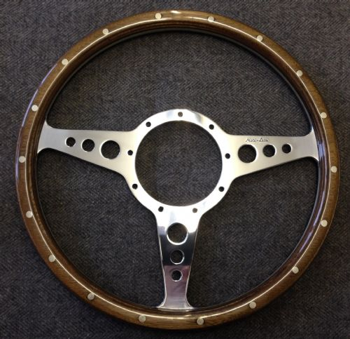 "Moto-Lita Wooden Rimmed 13"" or 14"" MK3 with Holes"